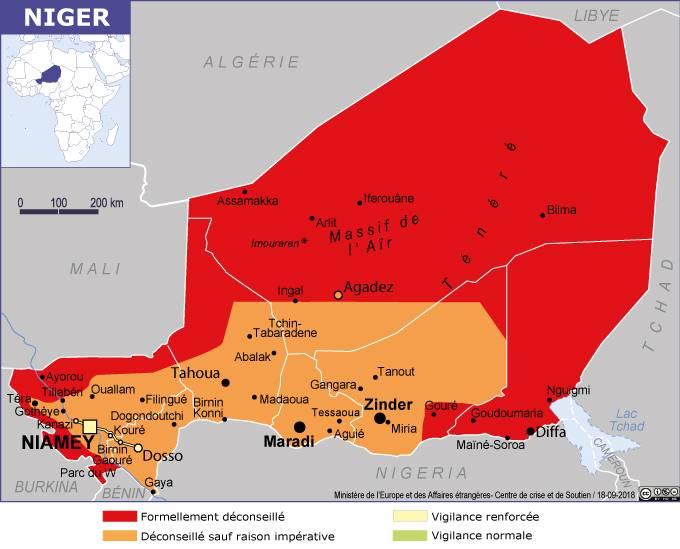 Carte Algerie Niger.Carte Du Niger La France Au Niger